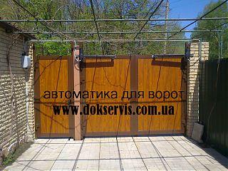 распашные ворота Дорхан с автоматикой