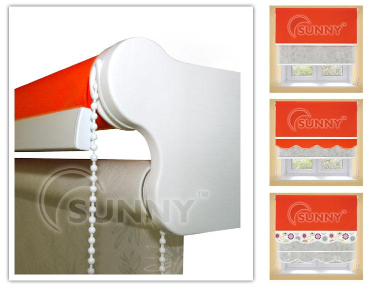 система рулонных штор RM-40 Duet ( 2 шторы в одном карнизе)
