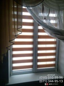 рулонные шторы день и ночь